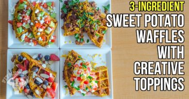 Lose Weight Market maxresdefault-7-390x205 3-Ingredient Sweet Potato Waffles with Creative Toppings / Gofres de Batata con Coberturas Ricas
