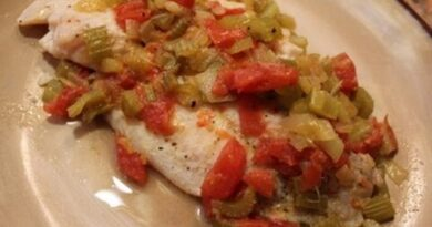 Lose Weight Market hqdefault-8-390x205 Tilapia Fillets with Tomato, Celery & Lemon: Classy Cookin' with Chef Stef